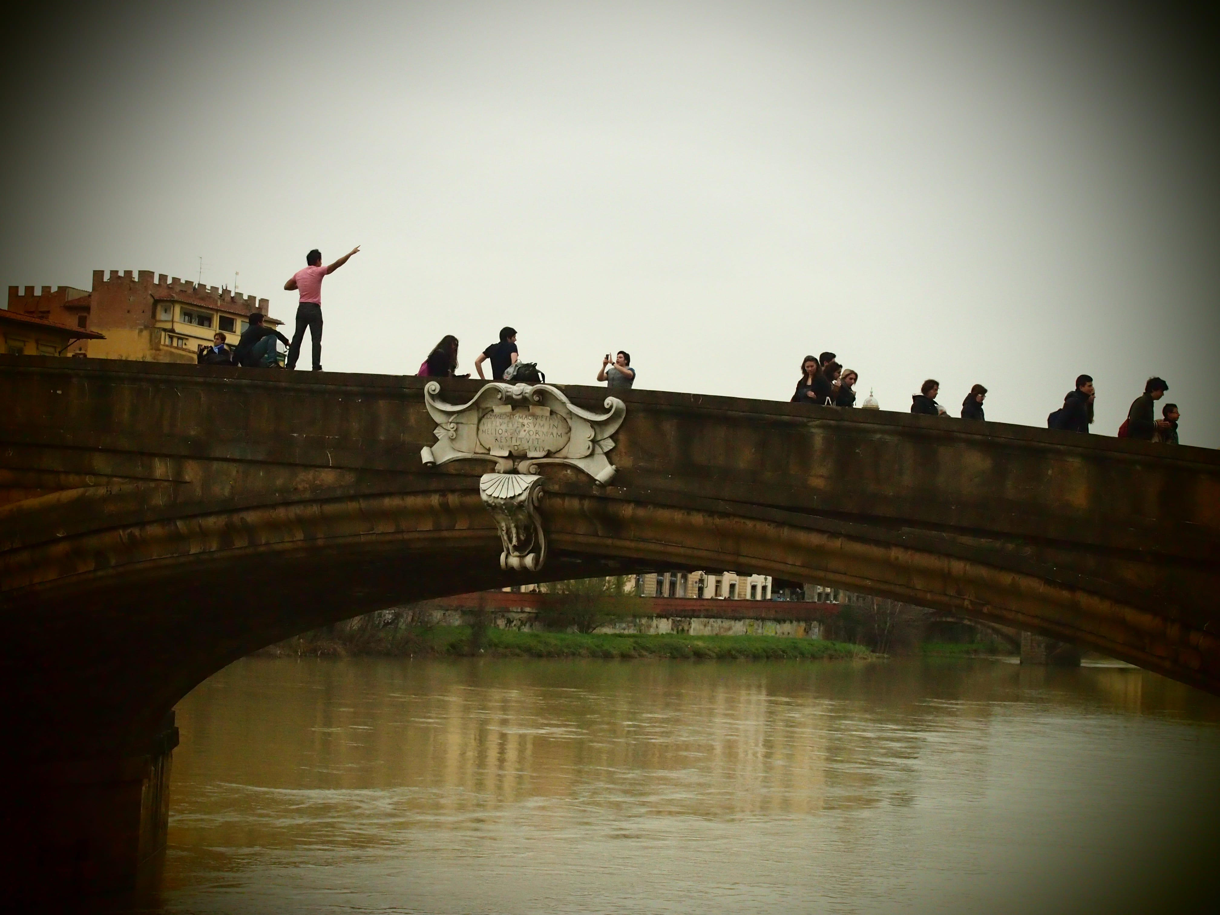 one of the bridges over the river Arno