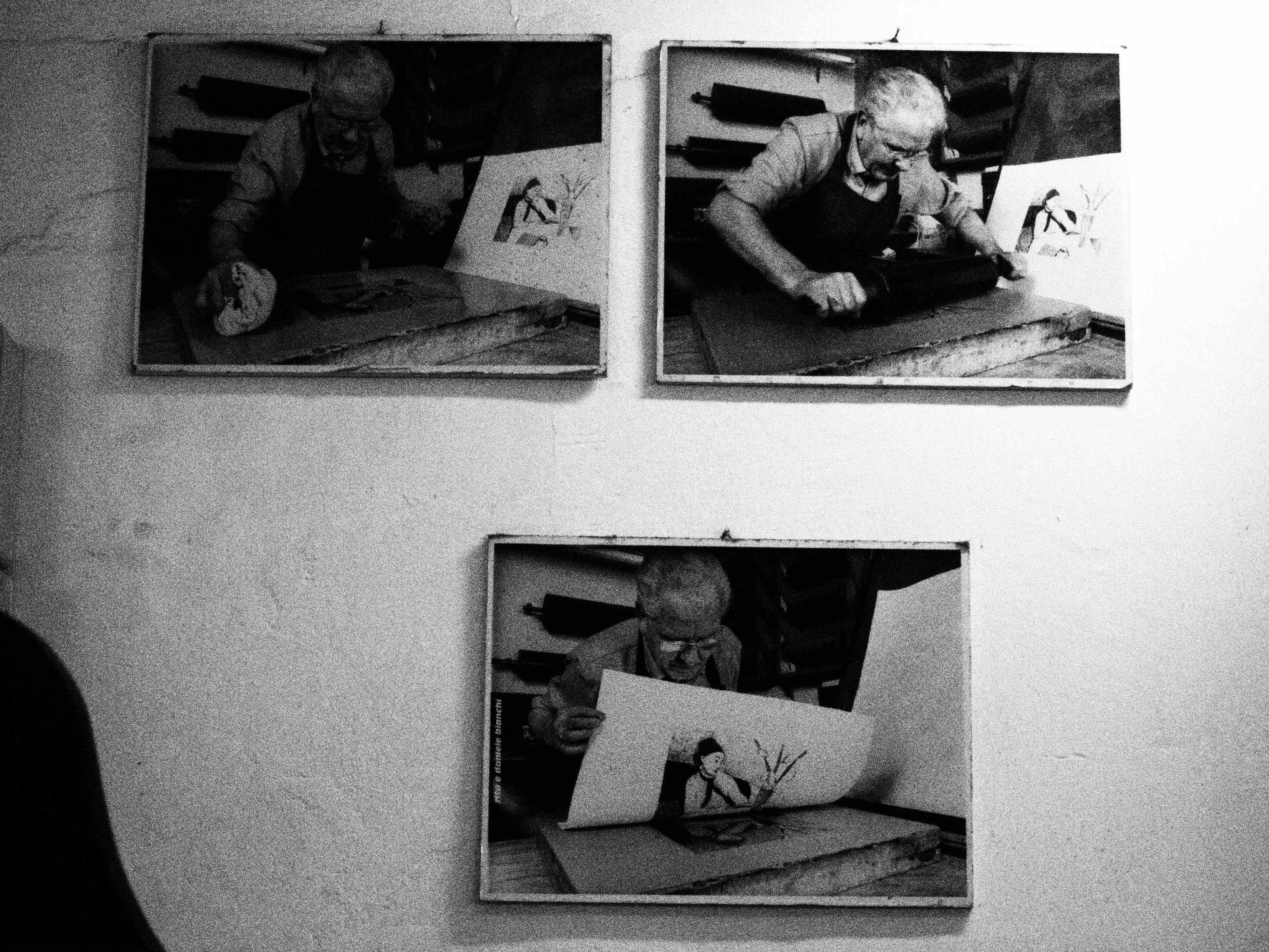 Henry Moore making prints at Il Bisonte