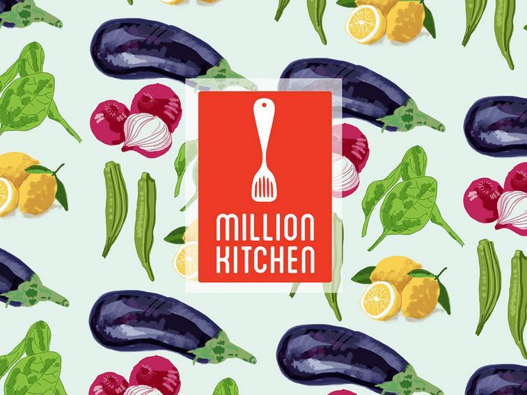 Million Kitchen logo and identity