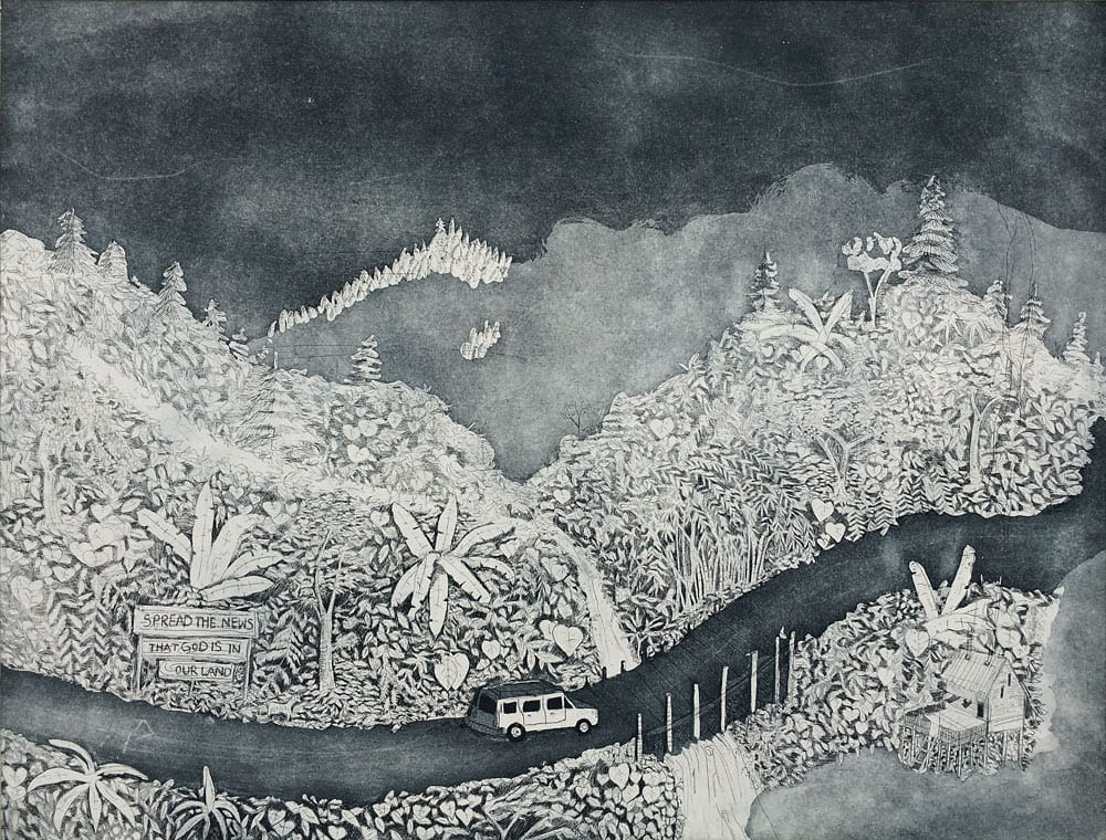 Exploring the North East ( Etching edition of 10, Baroda, 2013)