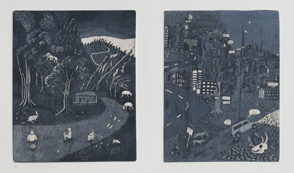 Once upon a time in Kodaikanal (Etching edition of 10, Baroda, 2012)