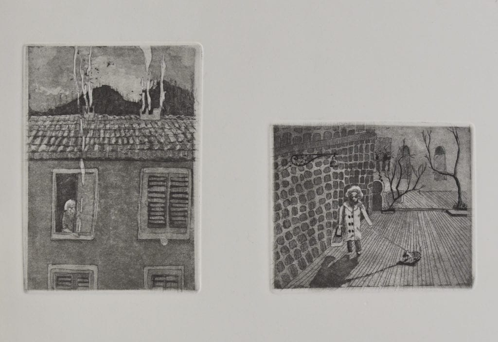 Lady Next door (Etching edition of 10, Florence 2012)