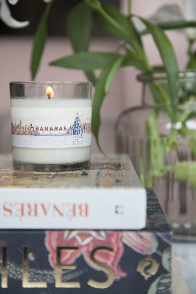 Banaras candle for No. 3 Clive Road