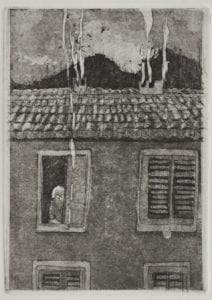 Lady Next door (detail) (Etching edition of 10, Florence 2012) Sold Out