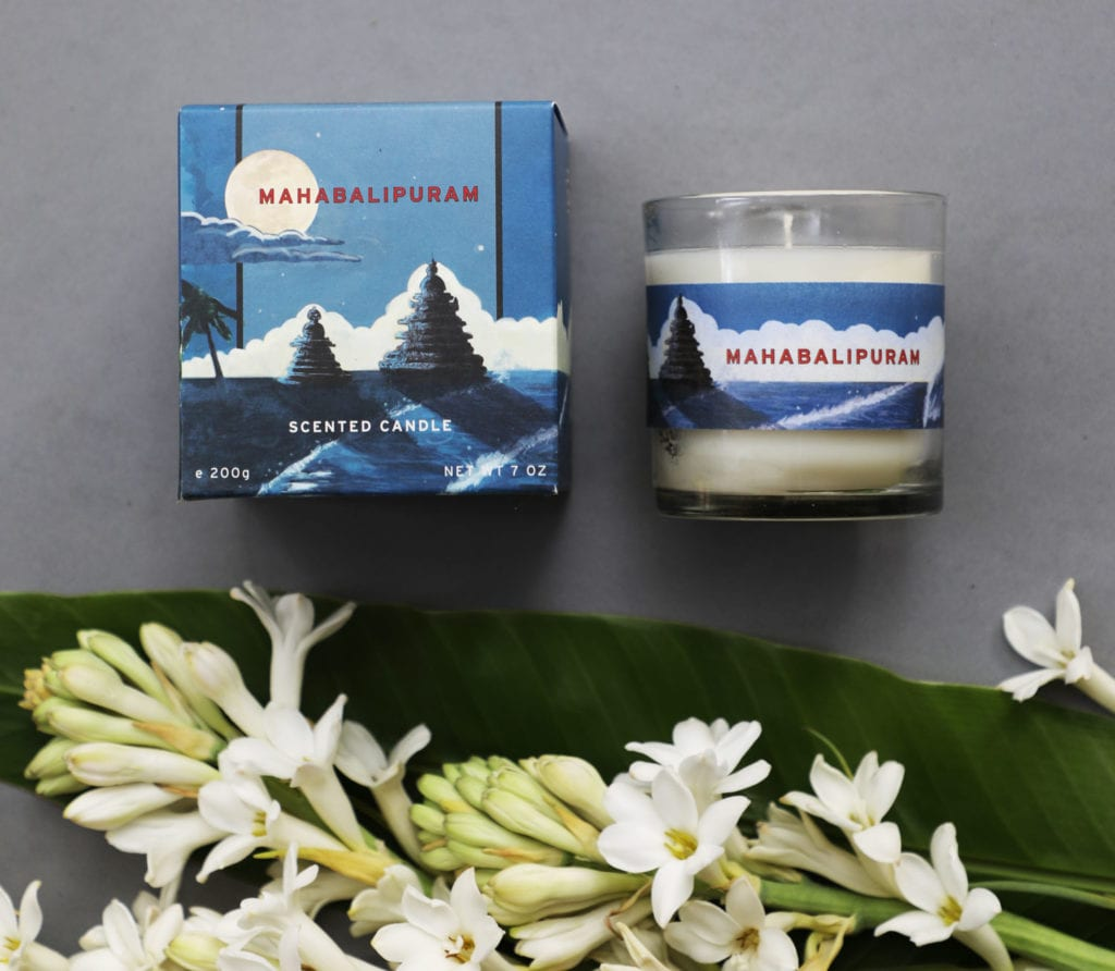 Mahabalipuram candle for No. 3 Clive Road