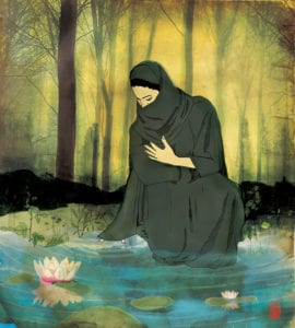 Space. A Muslim woman finds solace in the Hijab and she feels it shelters her and leaves her to her own space.