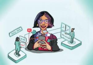 Illustration for Huffington Post -Selling your health data  #dataeconomy
