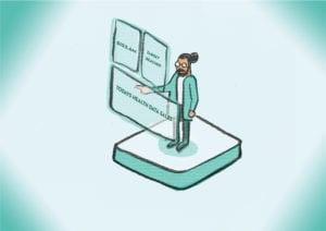 Illustration for Huffington Post - Data worker #dataeconomy
