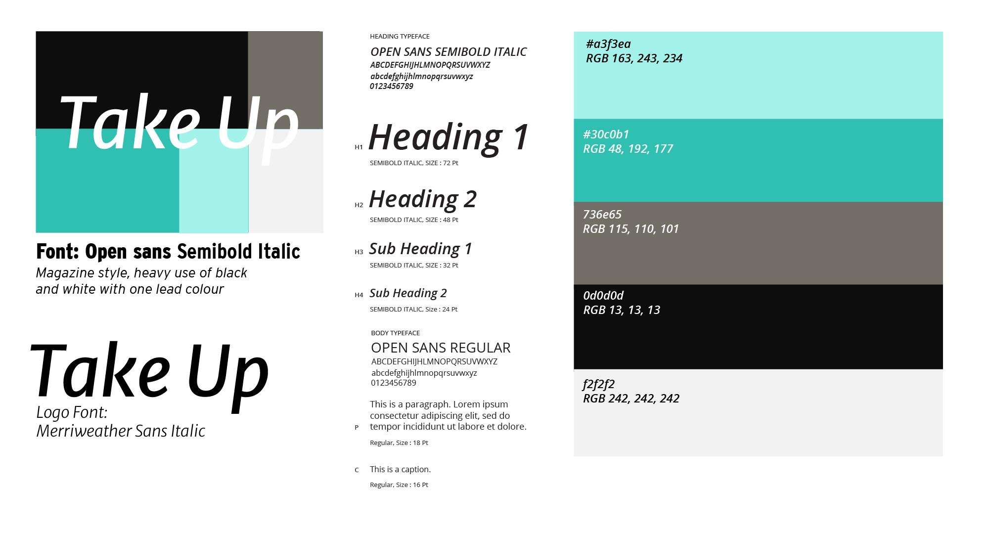 Take up_branding guide
